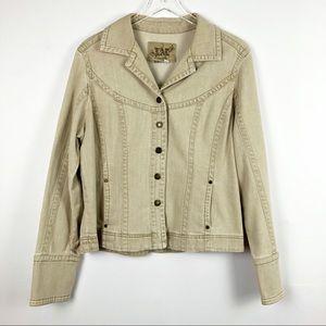 Khaki Stretch Denim Jacket Size XL